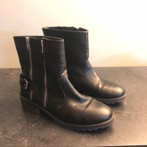 Brash | Ankle Boots with Double Zippers